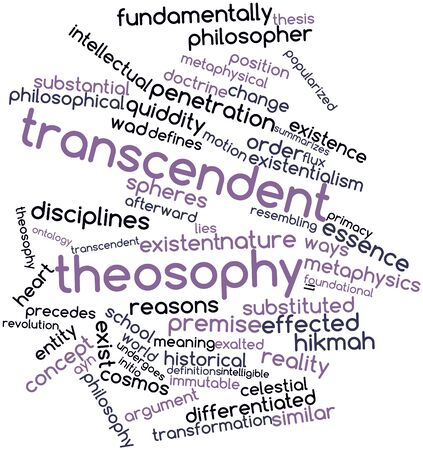 existentialism: Abstract word cloud for Transcendent theosophy with related tags and terms