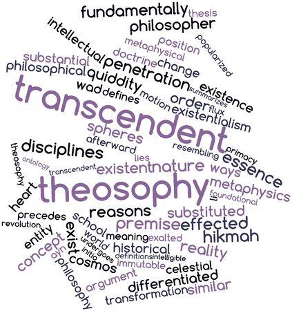 inteligible: Nube palabra abstracta por la teosofía trascendente con las etiquetas y términos relacionados