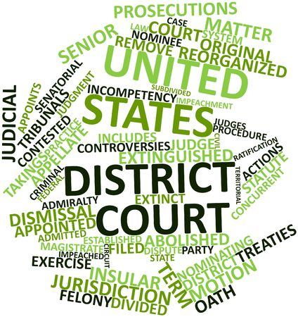 Abstract word cloud for United States district court with related tags and terms Stock Photo - 17148789