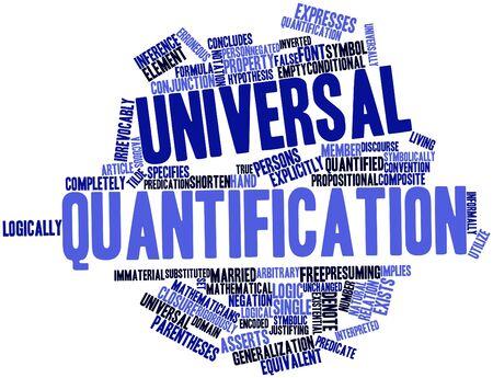 arbitrario: Nube palabra abstracta para la cuantificación universal con etiquetas y términos relacionados