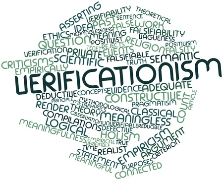 differed: Abstract word cloud for Verificationism with related tags and terms