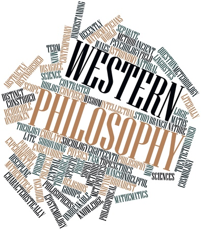 epistemology: Abstract word cloud for Western philosophy with related tags and terms