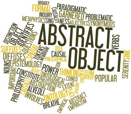 synoniem: Abstract woordwolk voor Abstract object met bijbehorende labels en termen