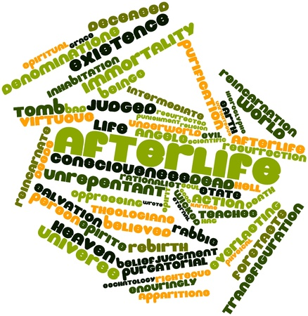 theologians: Abstract word cloud for Afterlife with related tags and terms Stock Photo