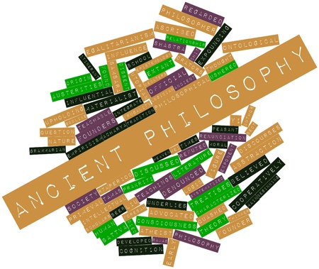 advocated: Abstract word cloud for Ancient philosophy with related tags and terms