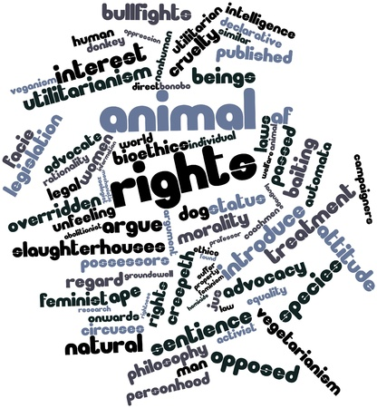 Abstract word cloud for Animal rights with related tags and terms