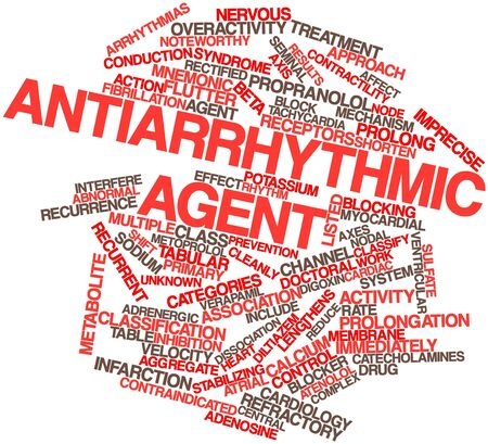 dissociation: Abstract word cloud for Antiarrhythmic agent with related tags and terms