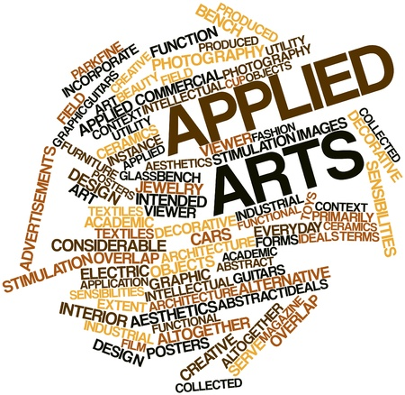 extent: Abstract word cloud for Applied arts with related tags and terms