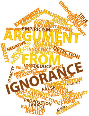 deduce: Abstract word cloud for Argument from ignorance with related tags and terms