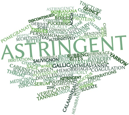 Abstract word cloud for Astringent with related tags and terms Stock Photo - 17197731