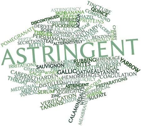 ulceras: Nube palabra abstracta para Astringente con etiquetas y t�rminos relacionados