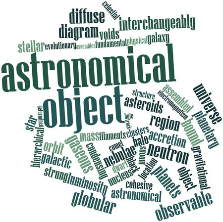 diffuse: Abstract word cloud for Astronomical object with related tags and terms