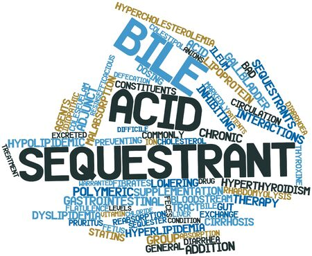 diarrhoea: Abstract word cloud for Bile acid sequestrant with related tags and terms