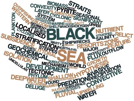 outflow: Abstract word cloud for Black Sea with related tags and terms