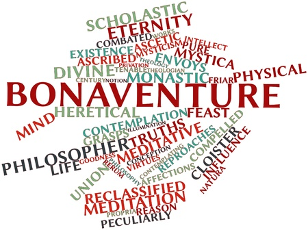 ascribed: Abstract word cloud for Bonaventure with related tags and terms Stock Photo