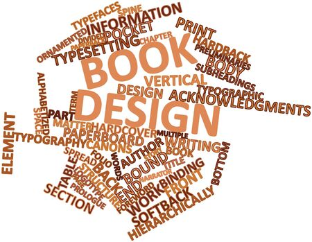 nested: Abstract word cloud for Book design with related tags and terms