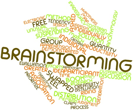 divergent: Abstract word cloud for Brainstorming with related tags and terms