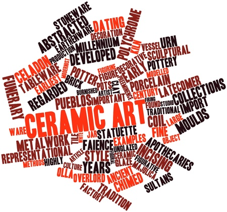 Abstract word cloud for Ceramic art with related tags and terms Stock Photo - 17197955