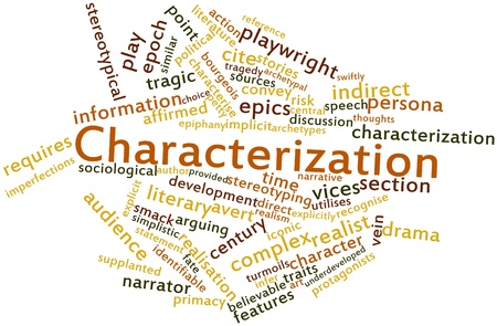 affirmed: Abstract word cloud for Characterization with related tags and terms