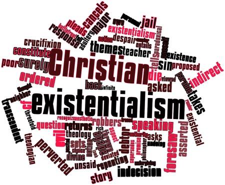 humility: Nube palabra abstracta para el existencialismo cristiano con las etiquetas y términos relacionados