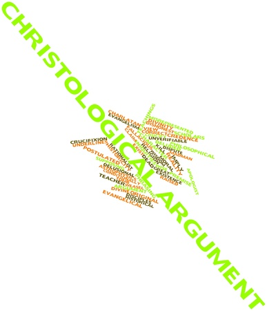 ascended: Abstract word cloud for Christological argument with related tags and terms