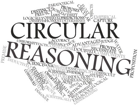 Abstract word cloud for Circular reasoning with related tags and terms Stock Photo - 17196954