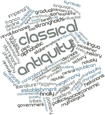 Abstract word cloud for Classical antiquity with related tags and terms Stock Photo - 17197612