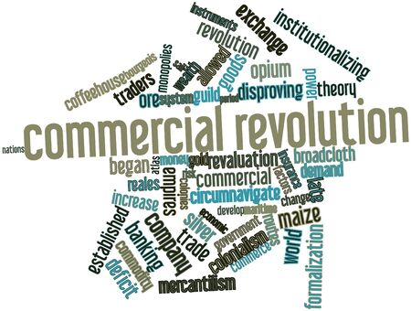 Abstract word cloud for Commercial Revolution with related tags and terms Stock Photo - 17197120