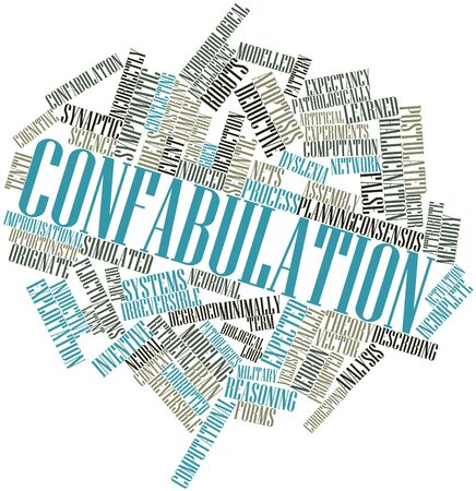 deductive: Abstract word cloud for Confabulation with related tags and terms