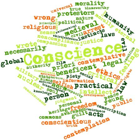 conscience: Abstract word cloud for Conscience with related tags and terms