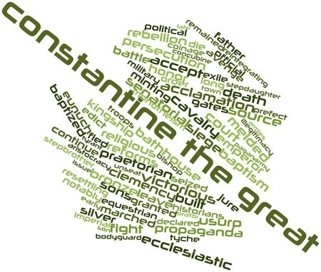 clemency: Abstract word cloud for Constantine the Great with related tags and terms