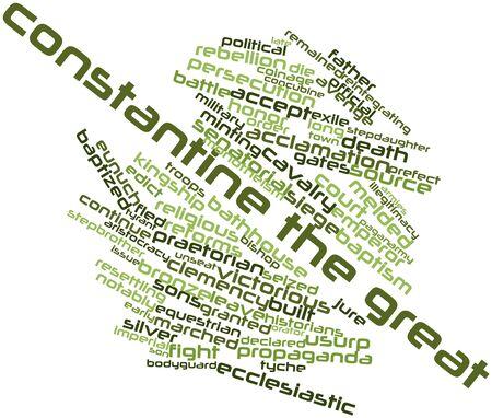 edicto: Nube palabra abstracta por Constantino el Grande con las etiquetas y términos relacionados Foto de archivo