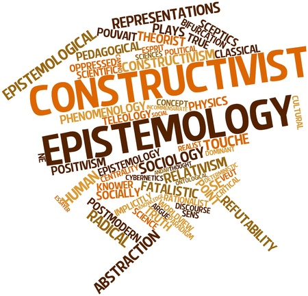 Abstract word cloud for Constructivist epistemology with related tags and terms Banco de Imagens