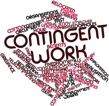Abstract word cloud for Contingent work with related tags and terms Stock Photo - 17198147