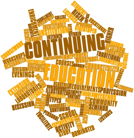 Abstract word cloud for Continuing education with related tags and terms Stock Photo - 17198320