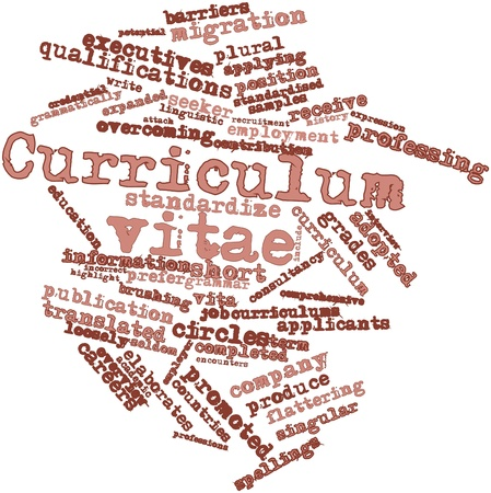 standardised: Abstract word cloud for Curriculum vitae with related tags and terms