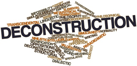 consummation: Abstract word cloud for Deconstruction with related tags and terms