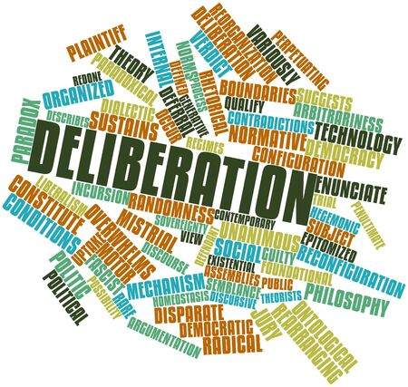 distinctions: Abstract word cloud for Deliberation with related tags and terms