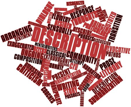 Abstract word cloud for Description with related tags and terms Stock Photo - 17198223