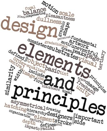 organization design: Abstract word cloud for Design elements and principles with related tags and terms