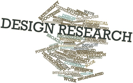 communicating: Abstract word cloud for Design research with related tags and terms