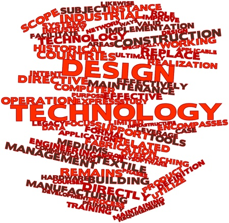 Abstract word cloud for Design technology with related tags and terms Stock Photo - 17198351