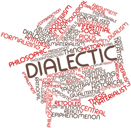 Abstract word cloud for Dialectic with related tags and terms Stock Photo - 17198129