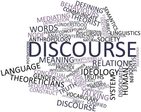 dictating: Resumen nube de palabras para el discurso con las etiquetas y t�rminos relacionados Foto de archivo