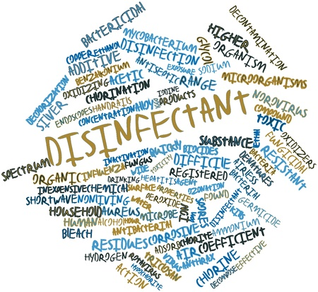 Abstract word cloud for Disinfectant with related tags and terms Stock Photo - 17198350