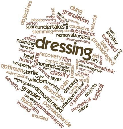 herida: Nube palabra abstracta para vestir con etiquetas y términos relacionados Foto de archivo