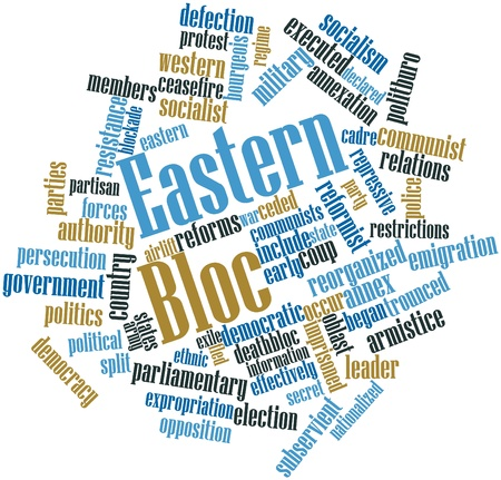 Abstract word cloud for Eastern Bloc with related tags and terms Stock Photo - 17198011