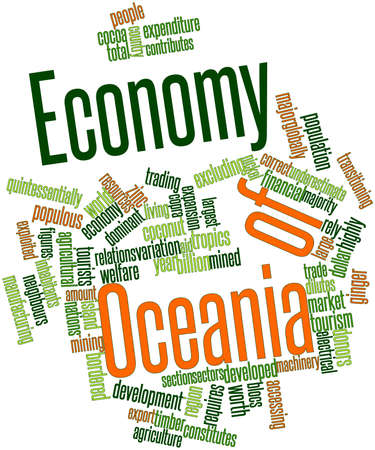 oceania: Abstract word cloud for Economy of Oceania with related tags and terms