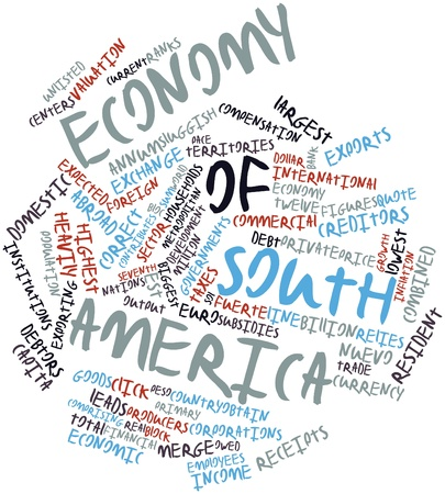 Abstract word cloud for Economy of South America with related tags and terms Stock Photo - 17197605