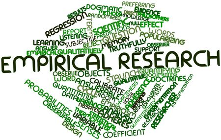 Abstract word cloud for Empirical research with related tags and terms Stock Photo - 17197634